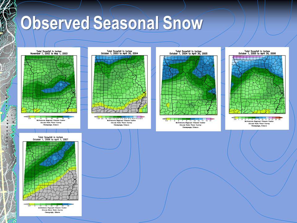 Observed Seasonal Snow