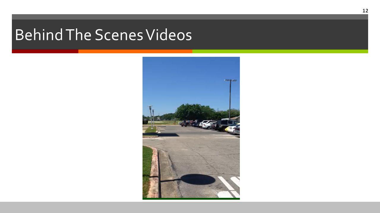 Behind The Scenes Videos 12