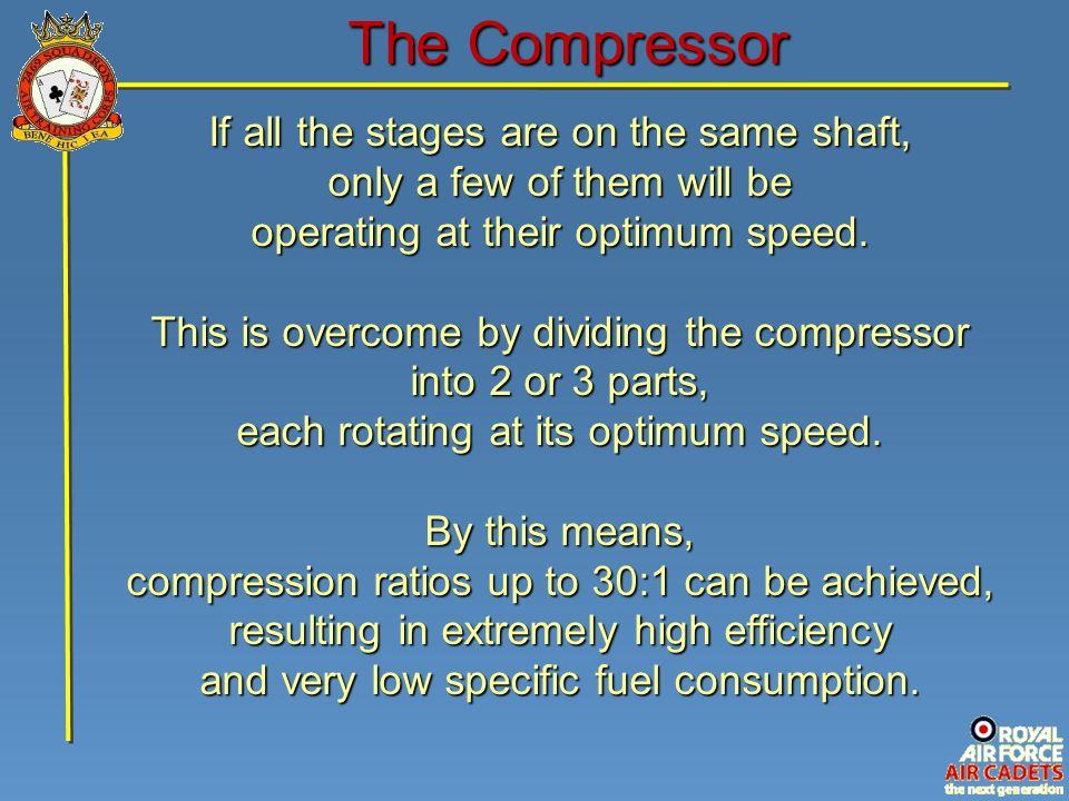 If all the stages are on the same shaft, only a few of them will be operating at their optimum speed.