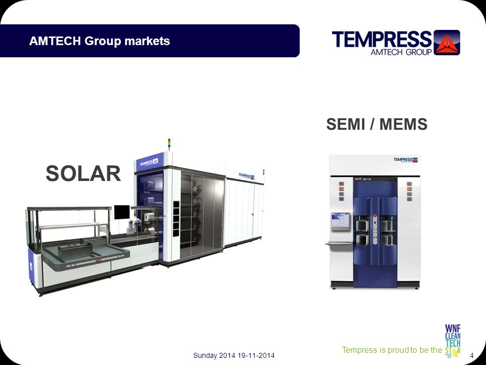 Tempress is proud to be the Tempress product for advanced cells