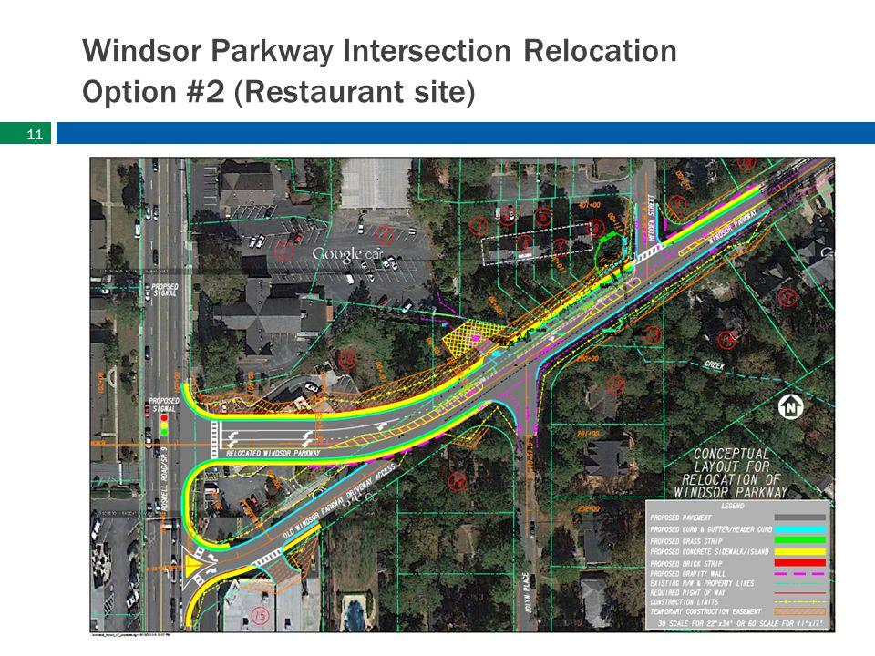 sandyspringsga.gov Windsor Parkway Intersection Relocation Option #2 (Restaurant site) 11