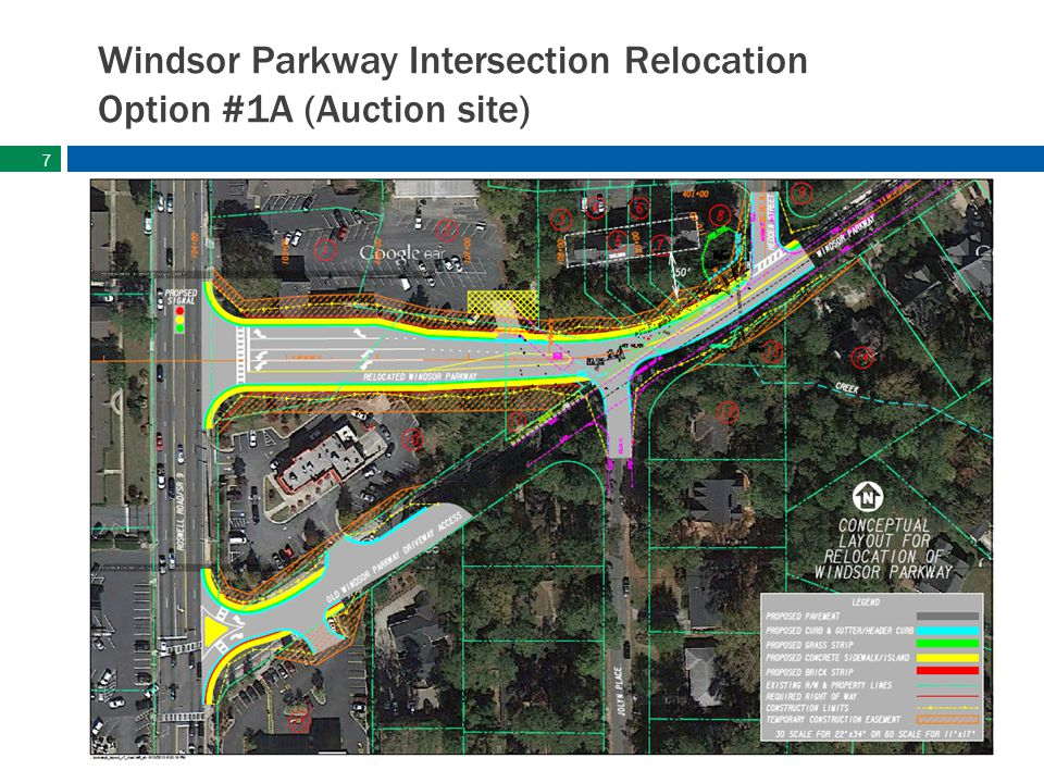 sandyspringsga.gov Windsor Parkway Intersection Relocation Option #1A (Auction site) 7