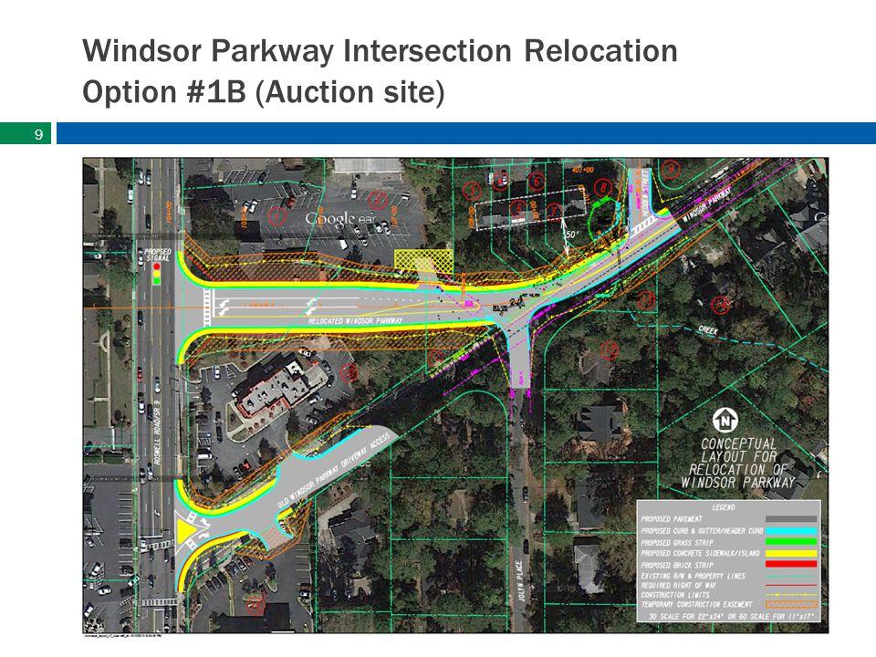 sandyspringsga.gov Windsor Parkway Intersection Relocation Option #1B (Auction site) 9