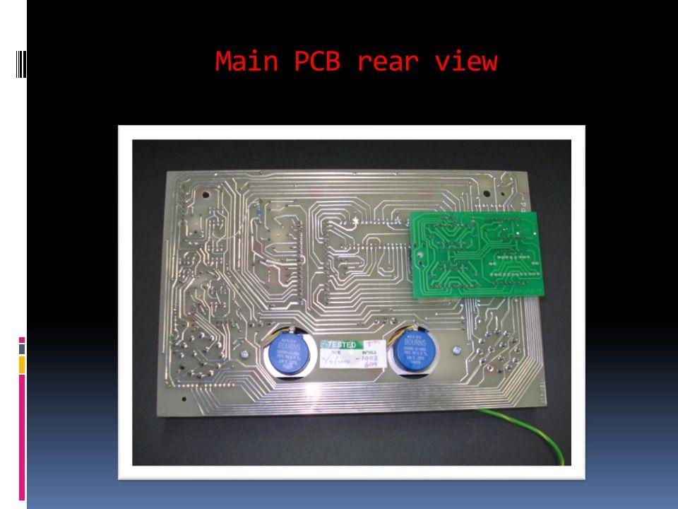 Main PCB rear view