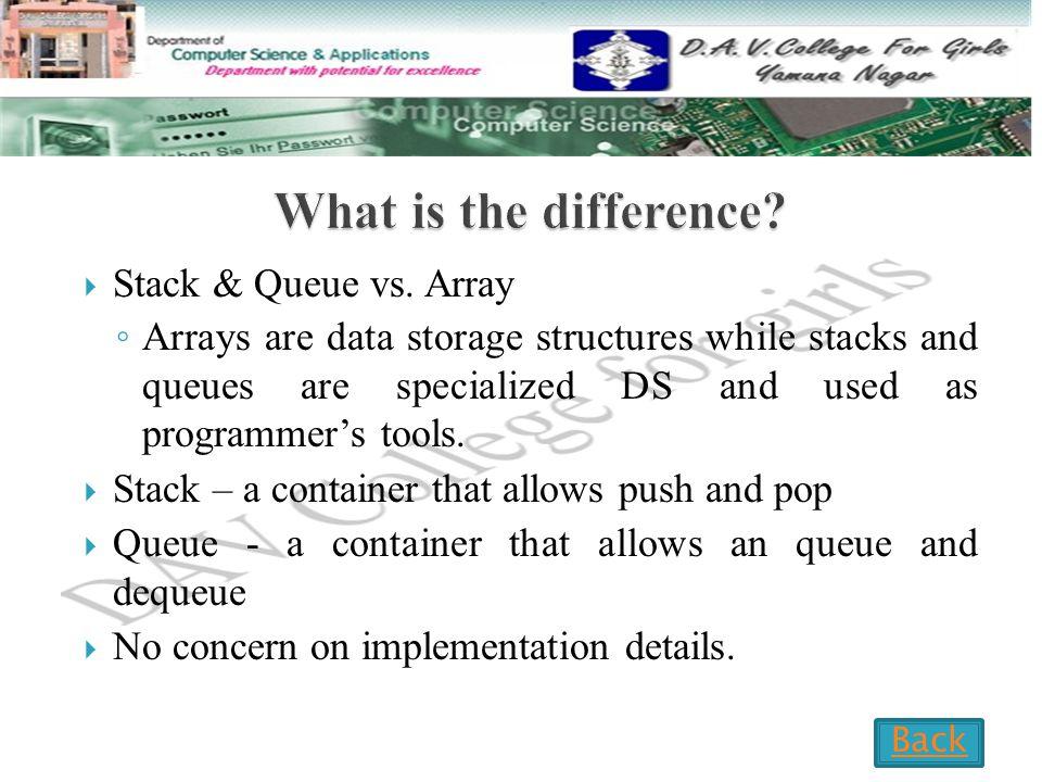  Stack & Queue vs.