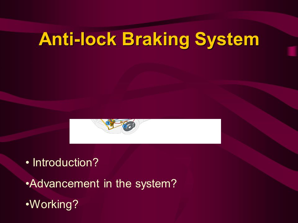 Anti-lock Braking System Introduction? Advancement in the system? Working?