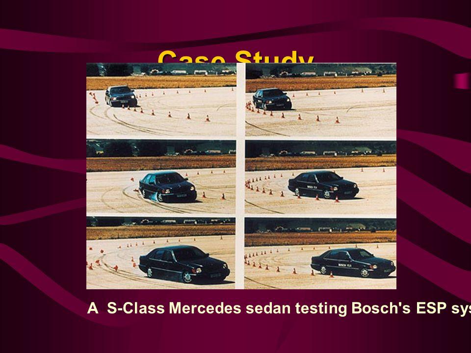 Case Study A S-Class Mercedes sedan testing Bosch s ESP system