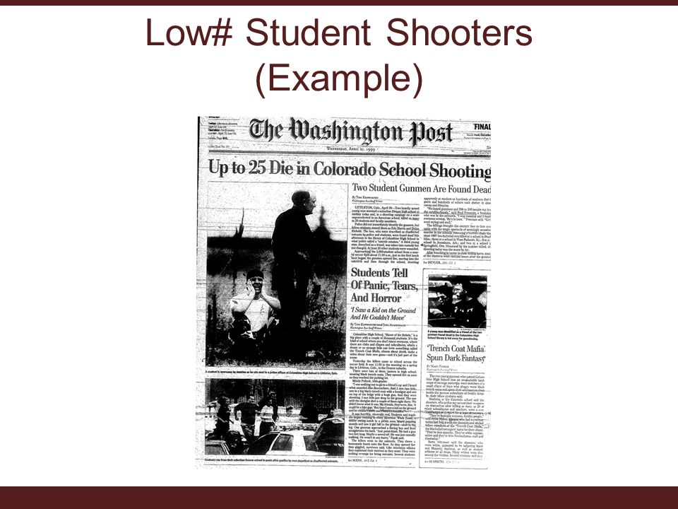 Low# Student Shooters (Example)