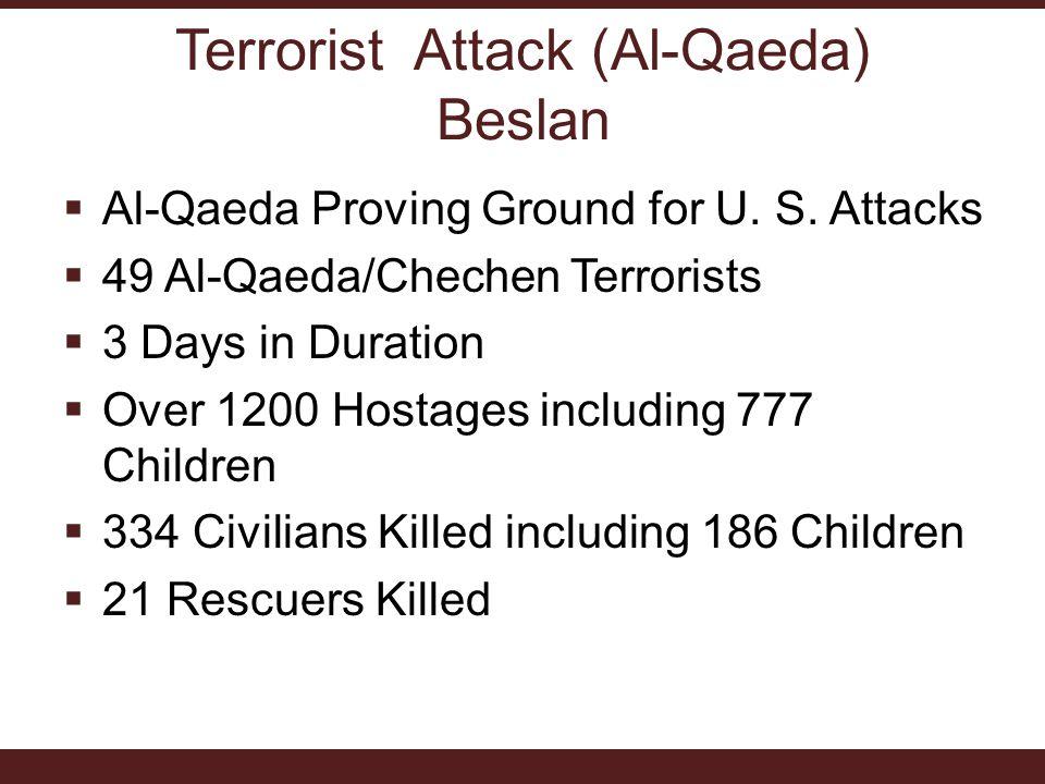  Al-Qaeda Proving Ground for U. S.