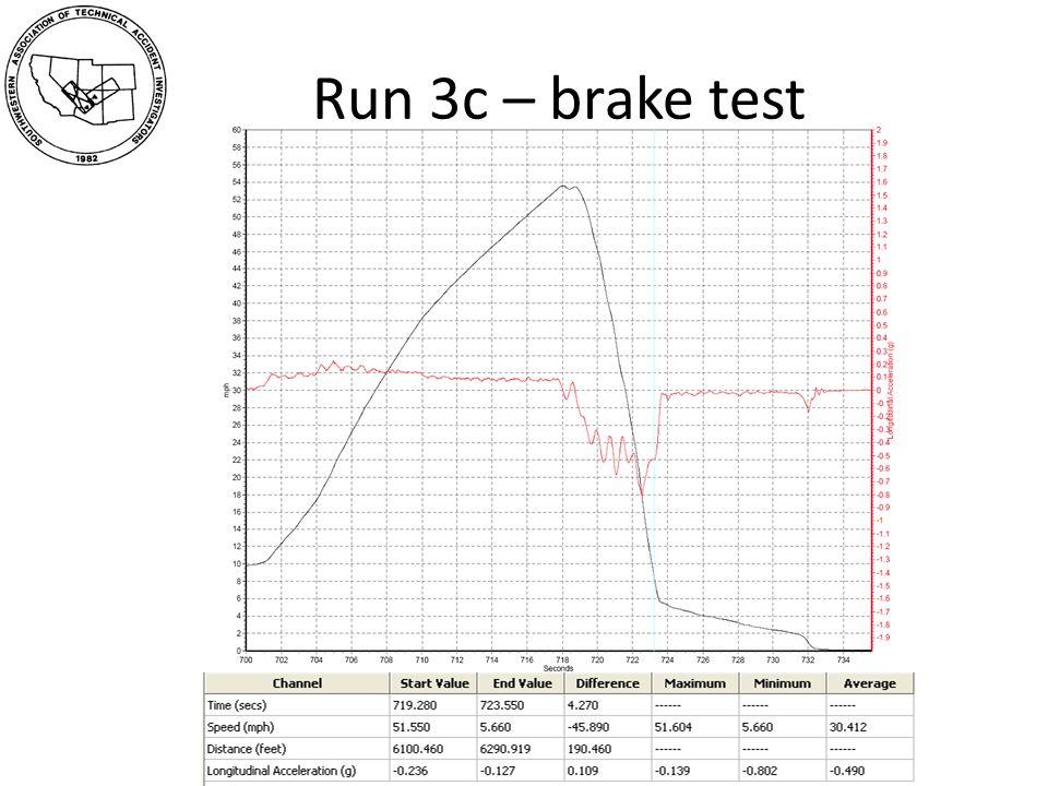 Run 3c – brake test