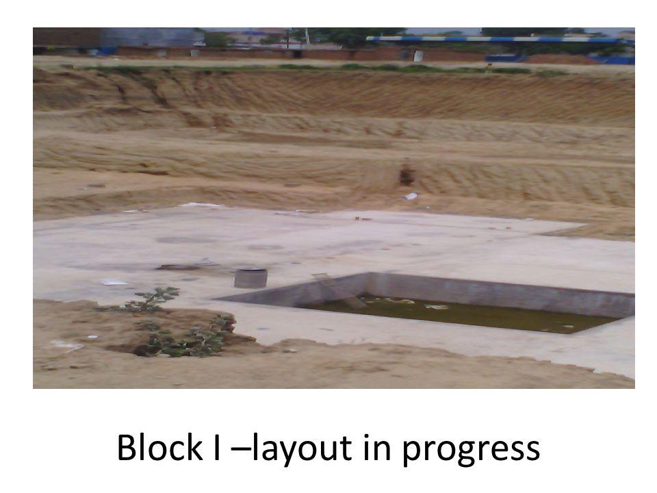 Block I –layout in progress
