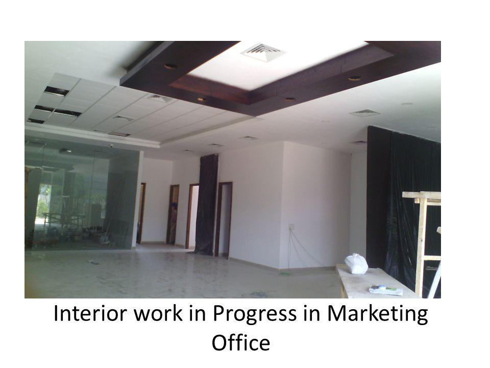 Interior work in Progress in Marketing Office