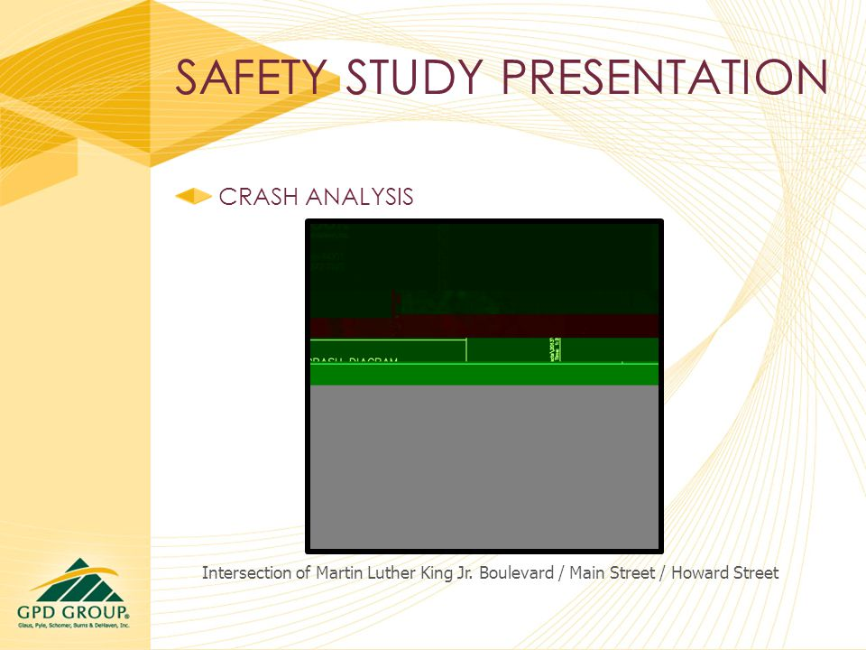 SAFETY STUDY PRESENTATION CRASH ANALYSIS Intersection of Martin Luther King Jr.