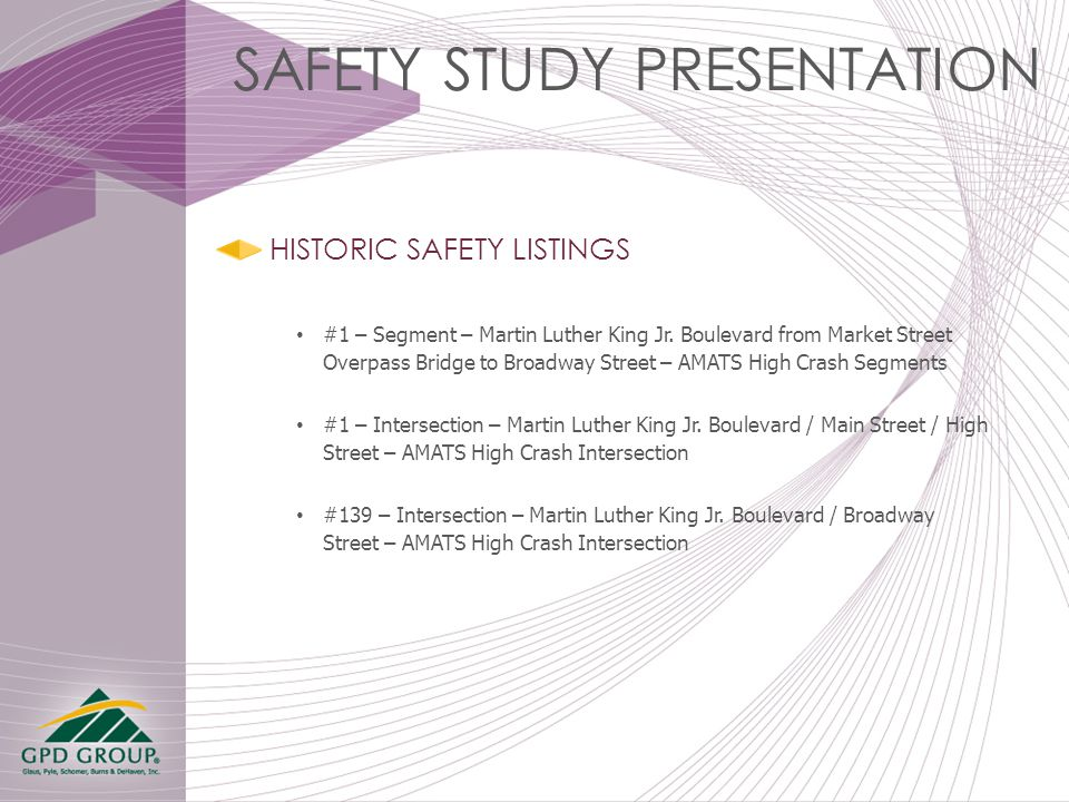 HISTORIC SAFETY LISTINGS #1 – Segment – Martin Luther King Jr.