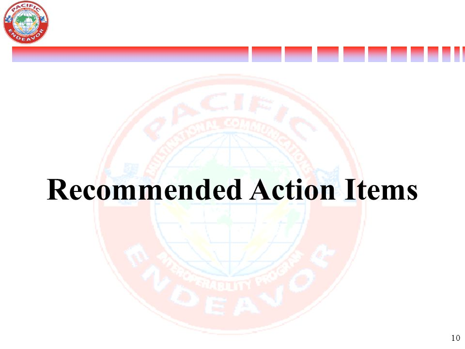 10 Recommended Action Items
