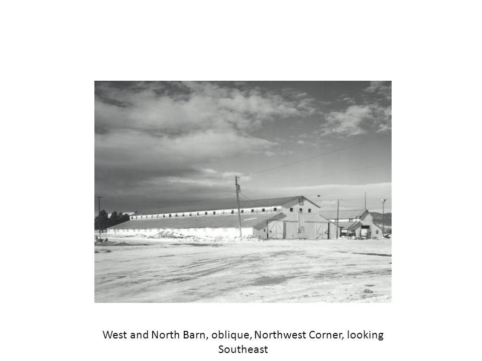 North Barn, North elevation, looking South