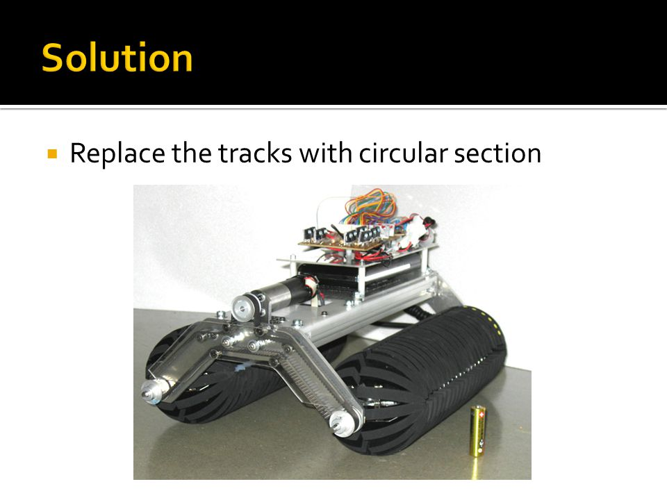  Replace the tracks with circular section