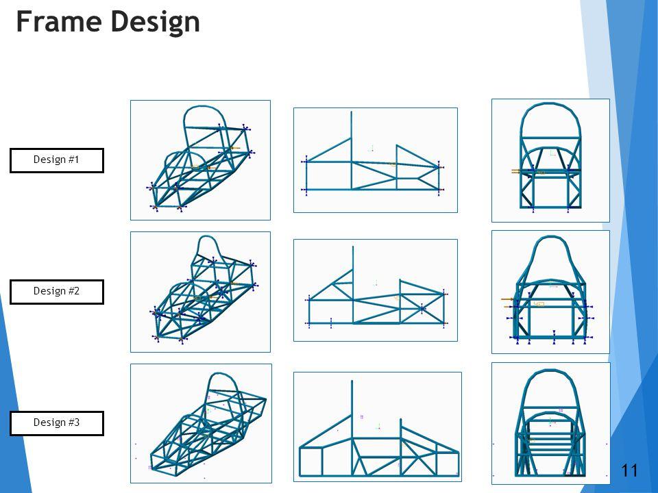 Frame Design Design #1 Design #2 Design #3 11