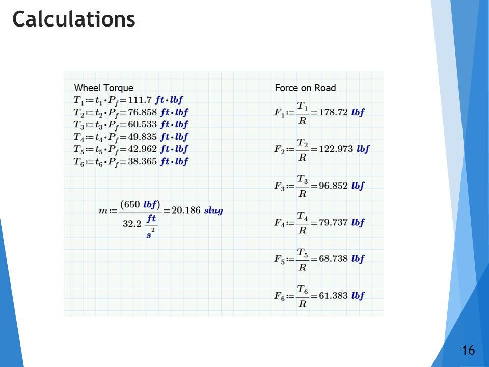 Calculations 16