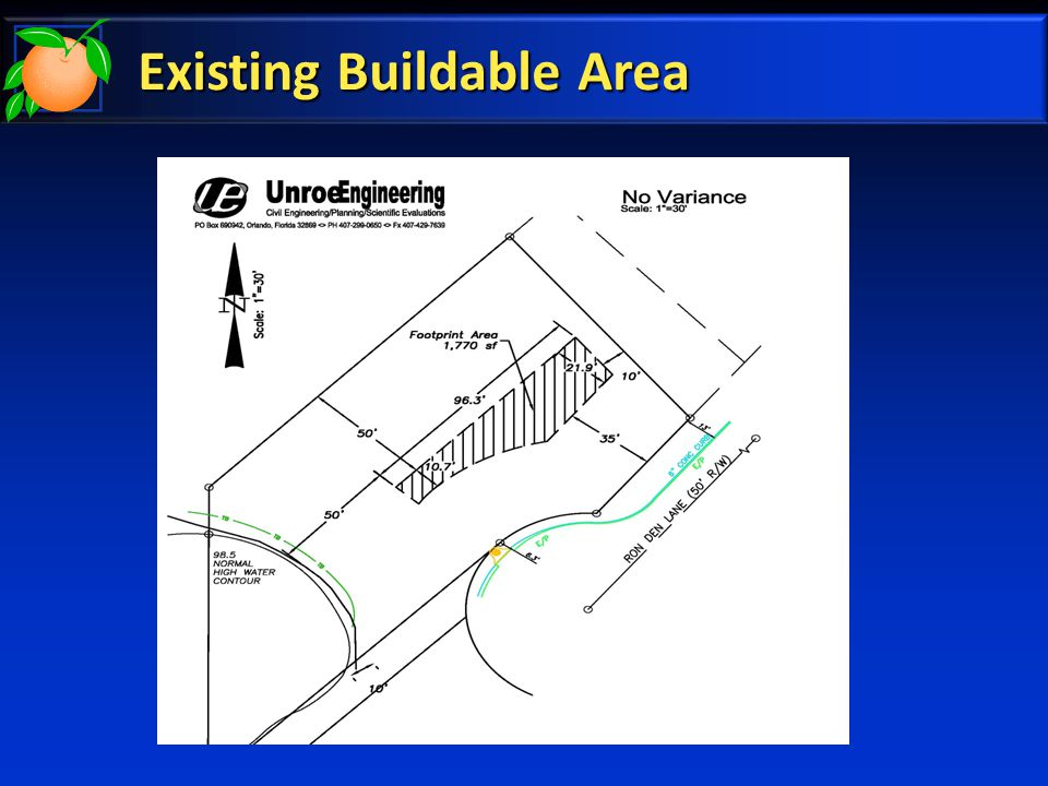 Existing Buildable Area