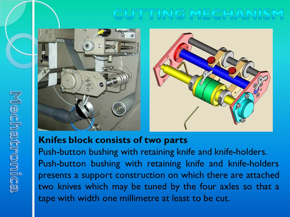 Knifes block consists of two parts Push-button bushing with retaining knife and knife-holders.