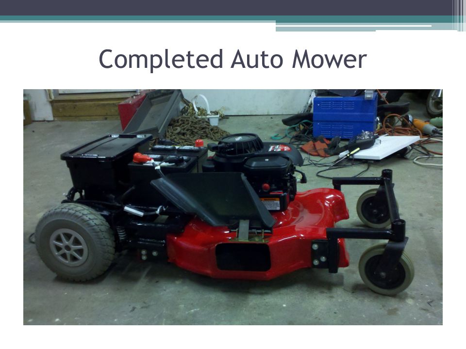 Completed Auto Mower