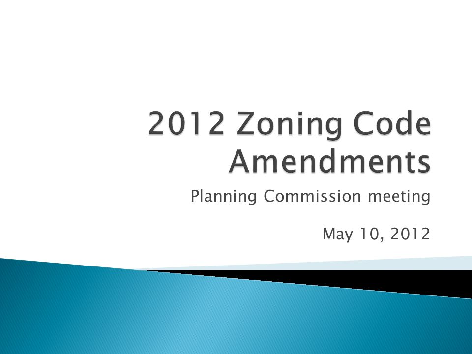 Planning Commission meeting May 10, 2012