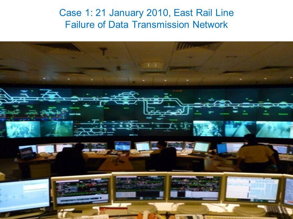 12 Case 1: 21 January 2010, East Rail Line Failure of Data Transmission Network