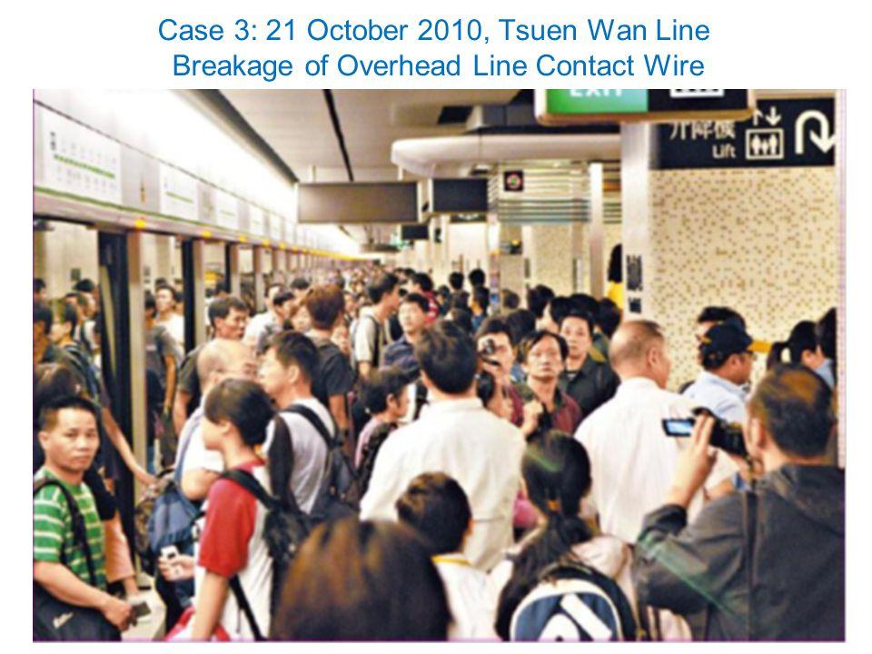 25 Case 3: 21 October 2010, Tsuen Wan Line Breakage of Overhead Line Contact Wire