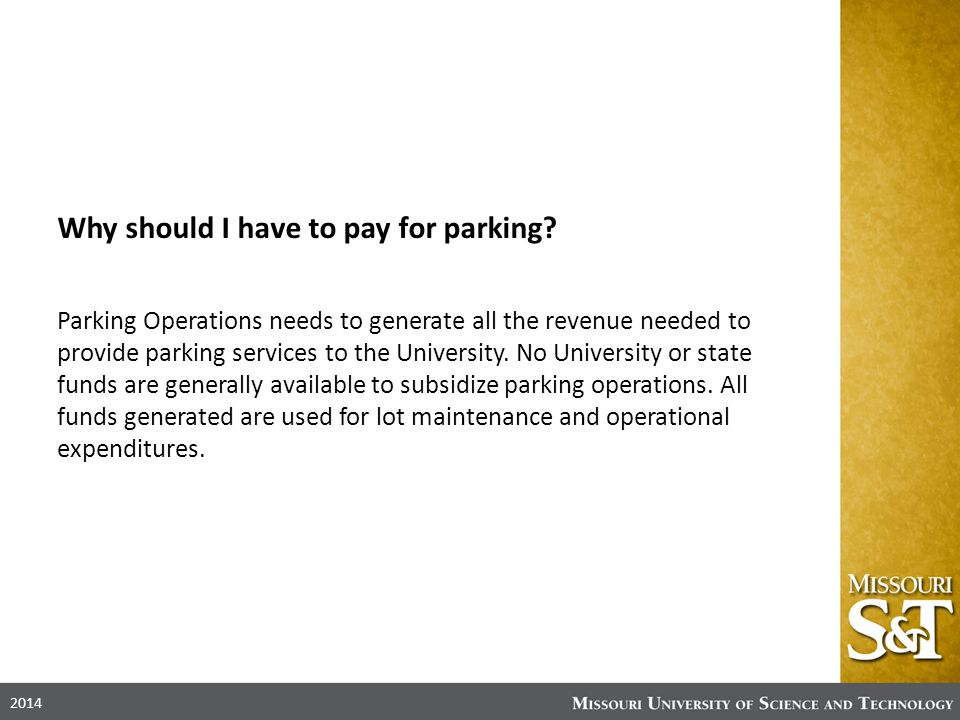 Why should I have to pay for parking.