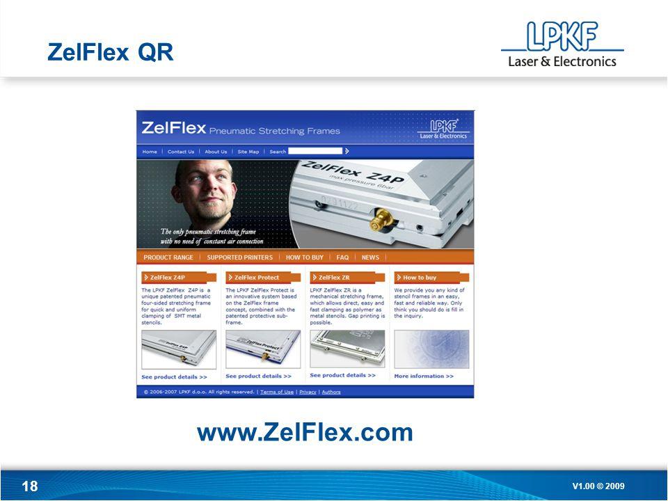 18 ZelFlex QR V1.00 © 2009 www.ZelFlex.com