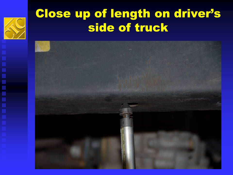 Close up of length on driver's side of truck