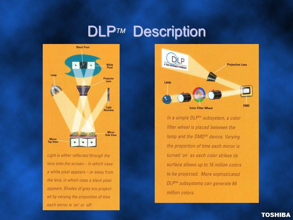 DLPDescription DLP TM Description TOSHIBA