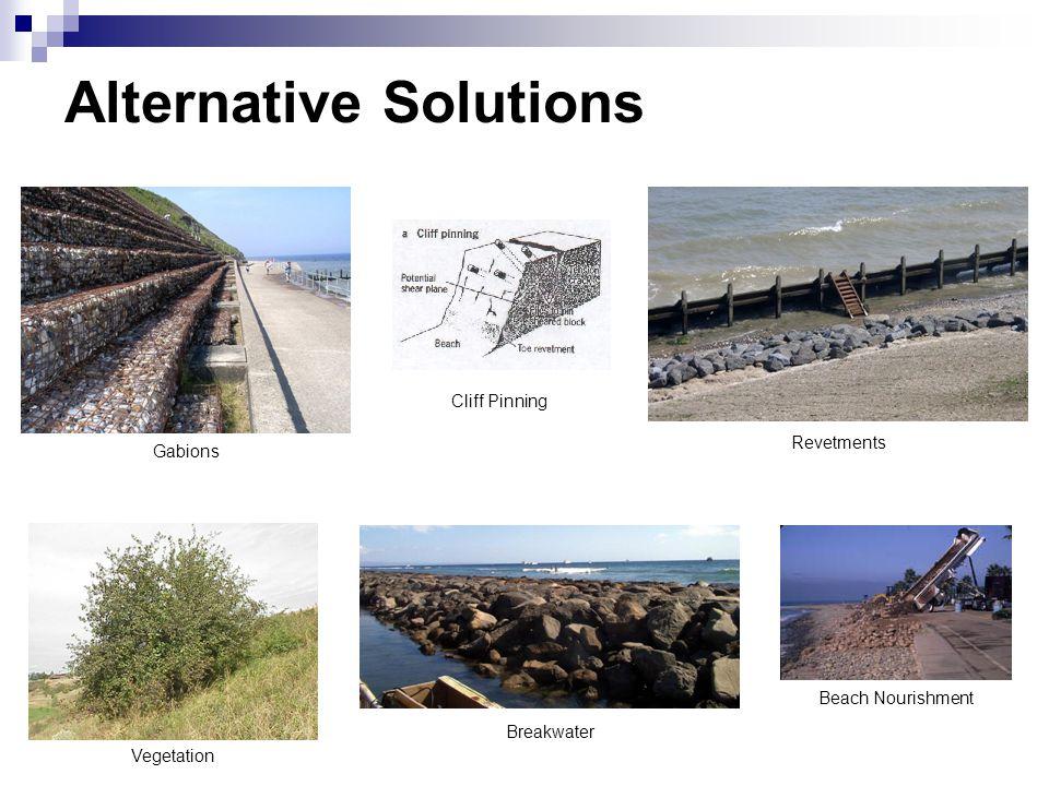 Alternative Solutions Gabions Revetments Beach Nourishment Breakwater Vegetation Cliff Pinning