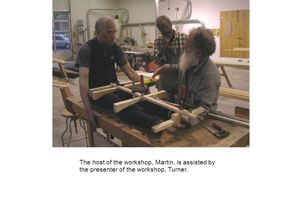 The host of the workshop, Martin, is assisted by the presenter of the workshop, Turner.