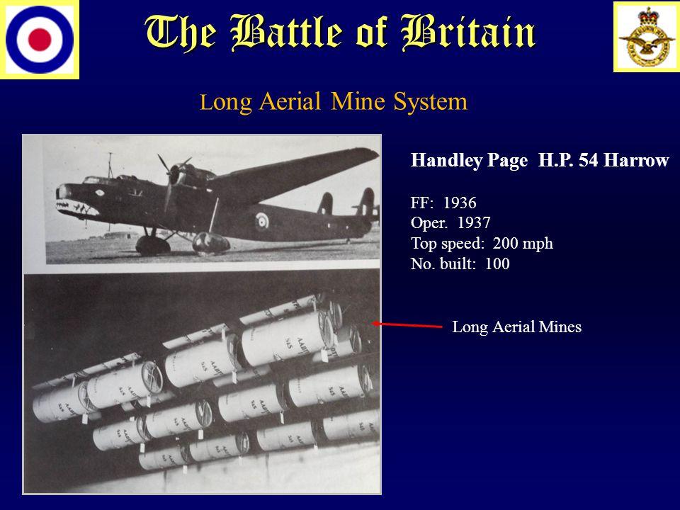 The Battle of Britain Handley Page H.P. 54 Harrow FF: 1936 Oper.