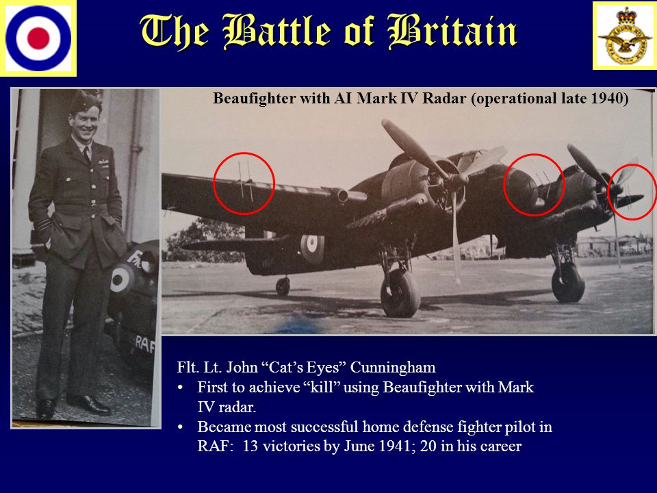 The Battle of Britain Beaufighter with AI Mark IV Radar (operational late 1940) Flt.