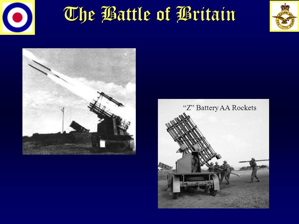 The Battle of Britain Z Battery AA Rockets