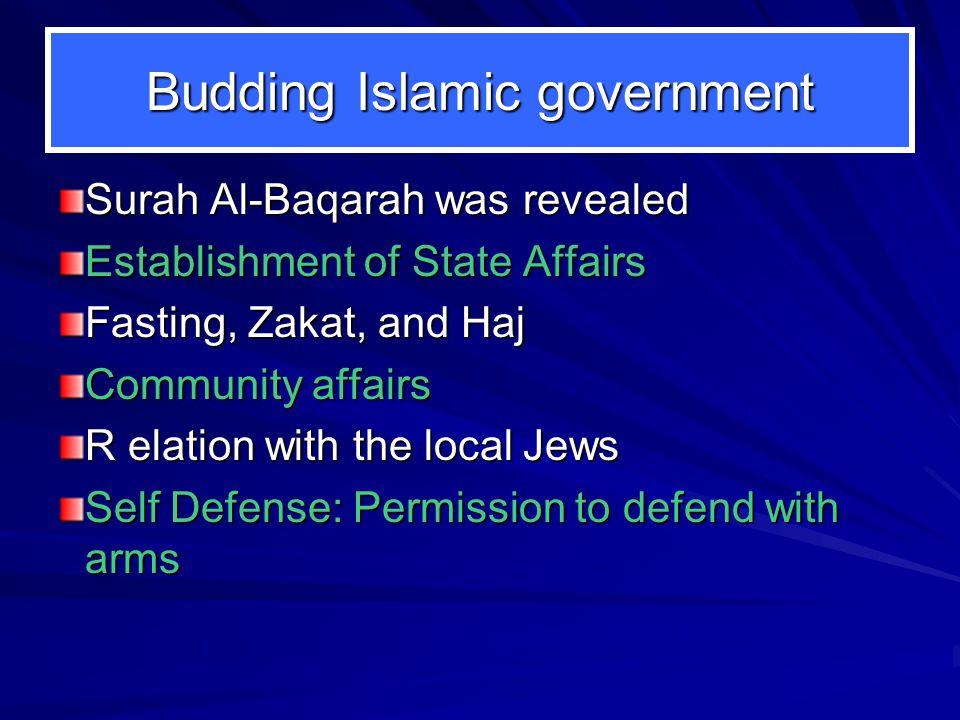 Formidable Decisions Muhammad 1. Qubaa Mosque 2. Effecting Brotherhood 3. Prophet's Mosque 4. Treaty with Jews 5. Challenging Quraish 6. Spreading Isl