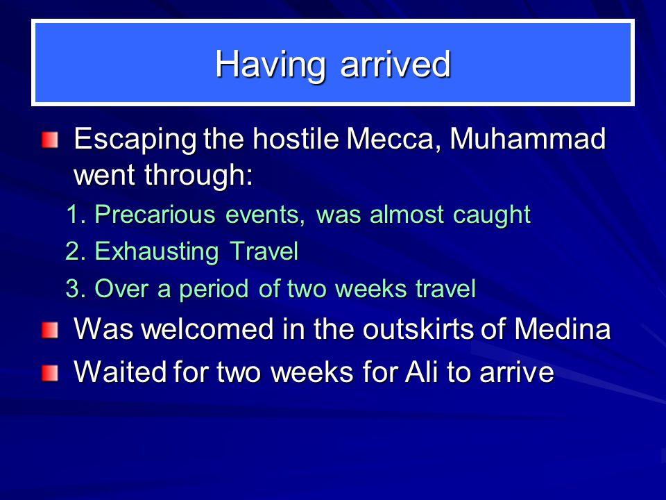 PROPHET MUHAMMAD (pbuh) II. After Hijrah: In Medina