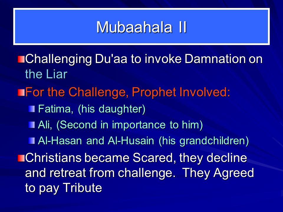 Revelation says: Surah 3: Ayah 61.