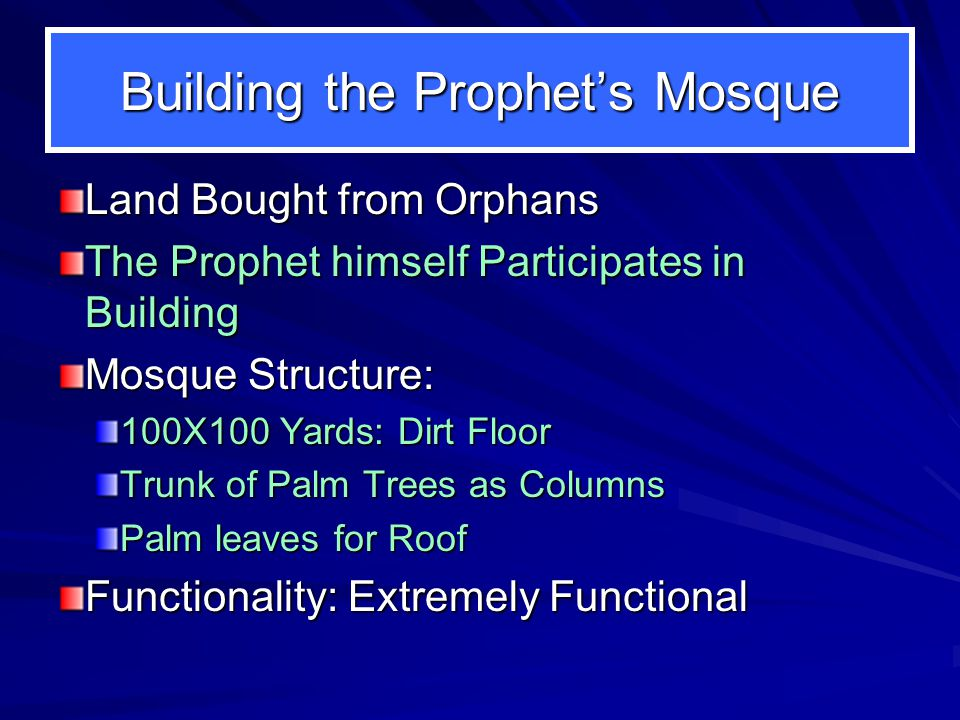 Effecting status of brotherhood Ansaar and Muhajiroon: One on One Basis Muhammad takes Ali as a Brother Advantages of effecting Brotherhood: Stability