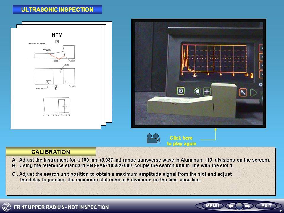 FR 47 UPPER RADIUS - NDT INSPECTION 28 NTM A.