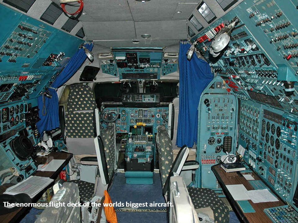 The enormous flight deck of the worlds biggest aircraft.