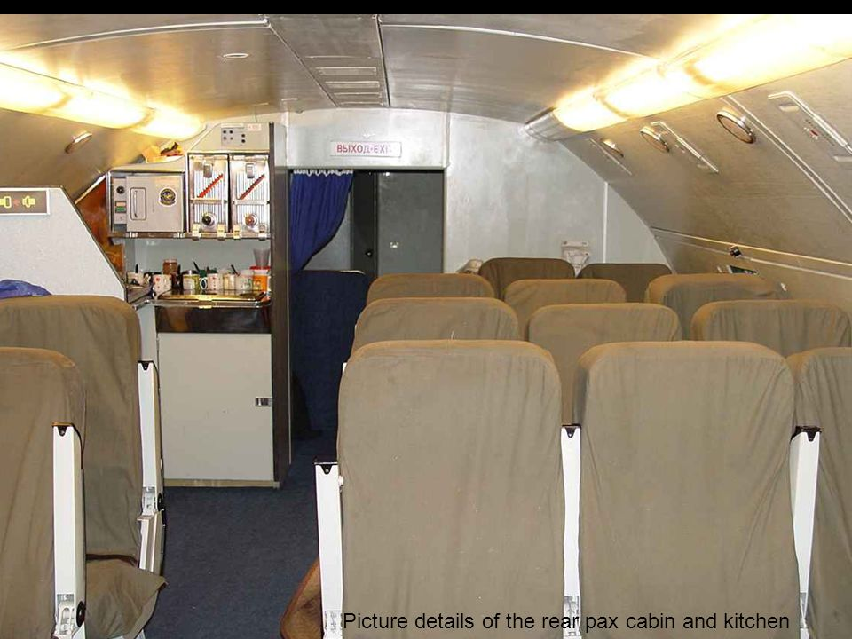 Picture details of the rear pax cabin and kitchen