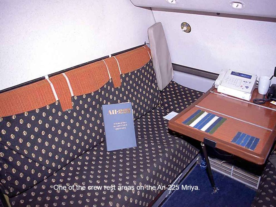 One of the crew rest areas on the An-225 Mriya.