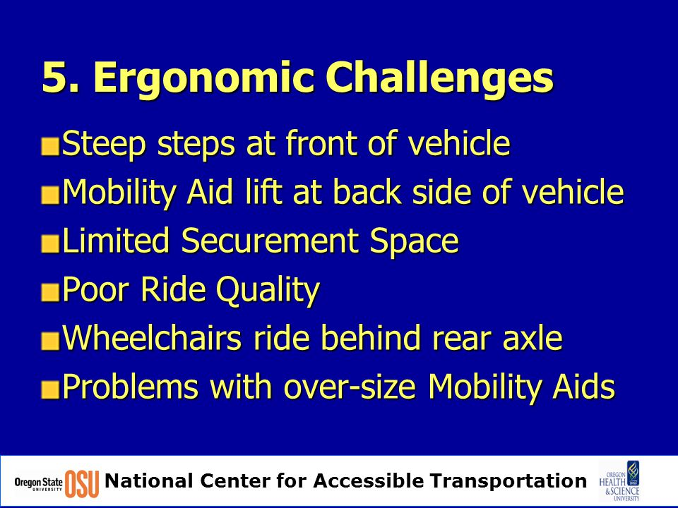 National Center for Accessible Transportation 5.