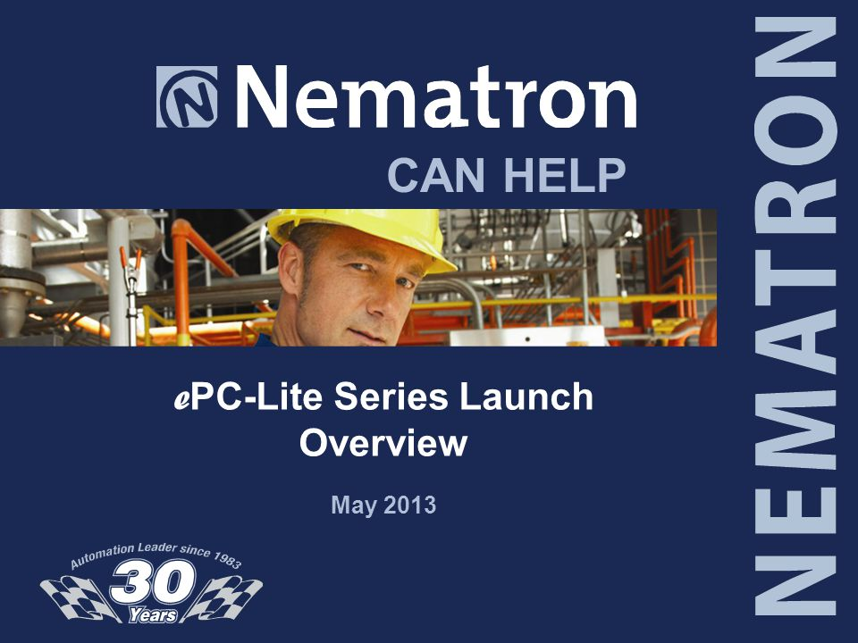 CAN HELP e PC-Lite Series Launch Overview May 2013