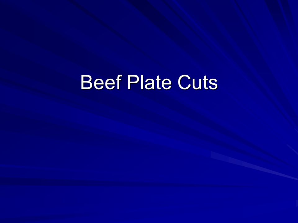 Beef Plate Cuts