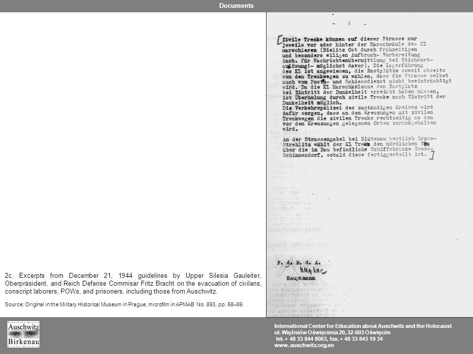 International Center for Education about Auschwitz and the Holocaust ul. Więźniów Oświęcimia 20, 32-603 Oświęcim tel. + 48 33 844 8063, fax. + 48 33 8